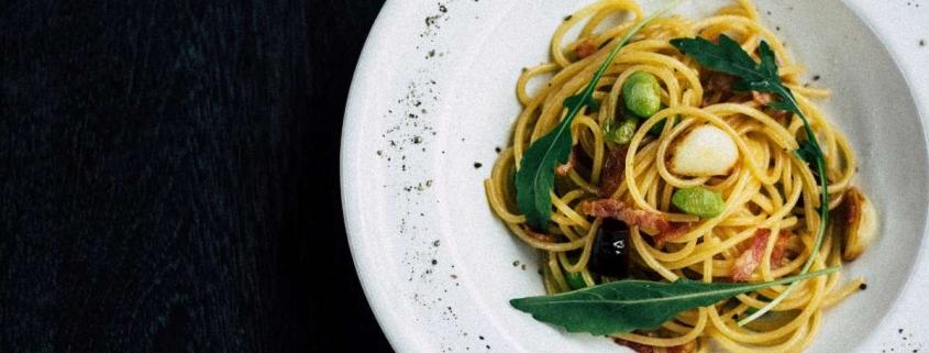 Pan fried spaghetti