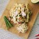 Asian grilled chicken noodle salad